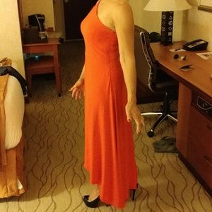 Tomato red gown
